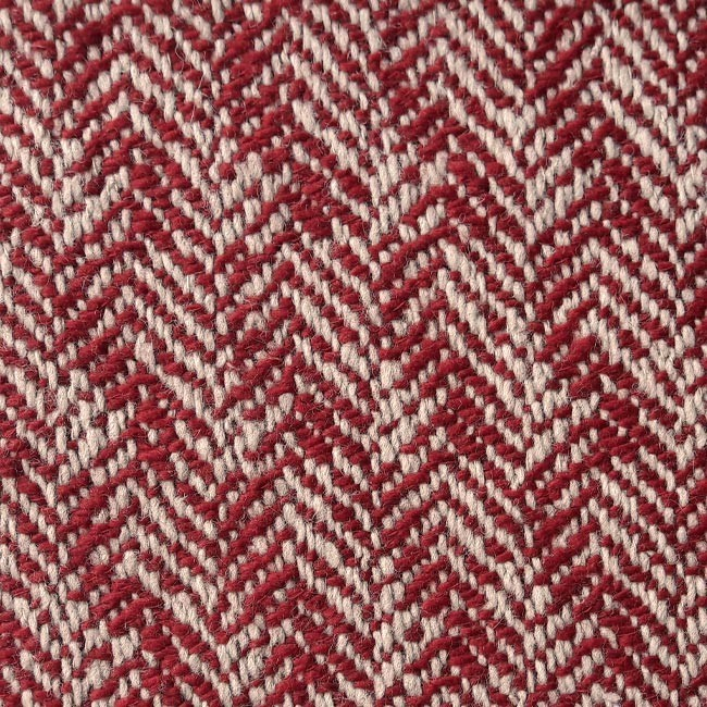 red chevron wool fabric