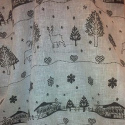 Sheer mountain chalet fabric